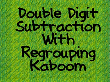 Kaboom Double Digit Subtraction With Regrouping