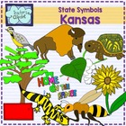 Kansas state symbols clipart