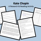 Kate Chopin Mini Unit w/Scavenger Hunt Bio, Timeline Activ