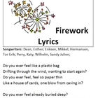 Katy Perry&#039;s &quot;Fireworks&quot; Poetry Review Packet