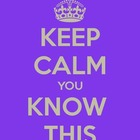 Keep Calm You Know This Poster