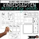 Kindergarten morning work { Alphabet pack and more }