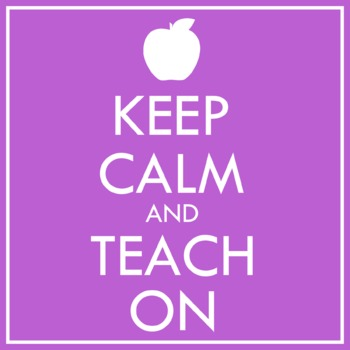 Keep Calm and Teach On Clip Art