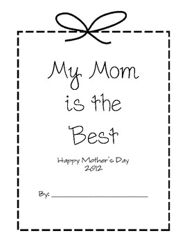 Keepsake Mother's Day Book