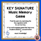 Key Signature Memory Game