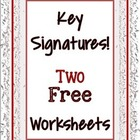 Key Signature Worksheets
