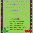 Key Words with Addition and Subtraction Problems