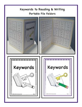 Keywords to Reading & Writing - Portable File Folders