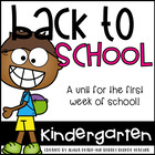 Kickin' Kindergarten Fun-  Fun for the First Week of School