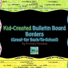 Kid Created Bulletin Board Borders {For Back-to-School}