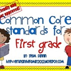 Kid Friendly Common Core Standards for First Grade