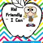 "Kid Friendly ""I Can"" Common Core LA Checklist Free Preview"