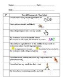 Kid Friendly Small Moment Checklist