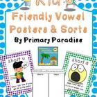 Kid Friendly Vowel Posters and Sorts