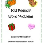 Kid Friendly Word Problems for Common Core