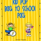 Kid Pop Back to School Pack