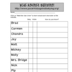 Kids Against Bullying Website Scavenger Hunt