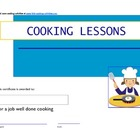 Kids Cooking Certificates