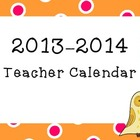 Kids Cupcakes N Common Core *2013-2014* Teacher Calendar *