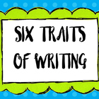 Artsy Teacher Cafe -  6 Traits of Writing POSTERS Set/6