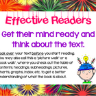 Artsy Teacher Cafe - EFFECTIVE READERS POSTER SET