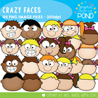Kids Faces - Clipart / Graphics From the Pond