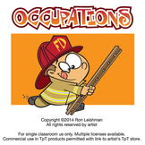 Kids Occupations Cartoon Clipart
