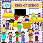 Kids at school CLIPART
