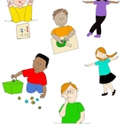 Kids in Action 1 Clip Art: Action Verbs, Illustrated!