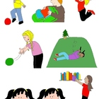 Kids in Action 2: MORE Verbs, Illustrated! 32 PNGs for Ski