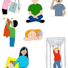 Kids in Action: School Days 2 Clip Art!  24 PNGs for Sched