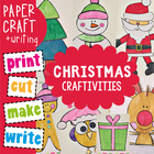 Christmas Craftivities - Print Cut Paste Write