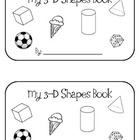 Kindergarten 3D Shapes Book