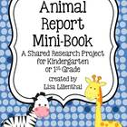 Kindergarten Animal Report Mini-Book ~ Shared Research Pro