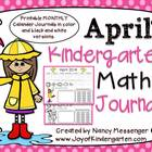 Kindergarten April Math Journals