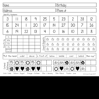 Kindergarten Assessment Form