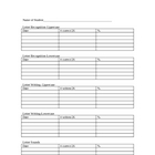 Kindergarten Assessment and Intervention Form