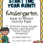 Kindergarten Back to School Pack - Start the year right!