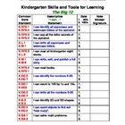 Kindergarten Basic Skills Motivation Chart (The Big 12)