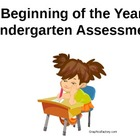 Kindergarten Beginning of Year Assessment & Check-off on P