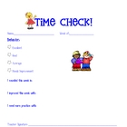 Kindergarten Behavior weekly form