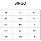 Kindergarten Bingo Using the Fry Sight Word List