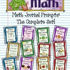 Kindergarten C.C. Math Journal Prompts- the Complete Set