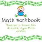 Kindergarten CCS aligned Math workbook {First quarter}