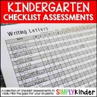 Kindergarten Checklist Assessments