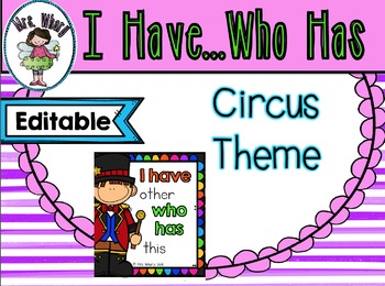 Kindergarten Circus sightword game