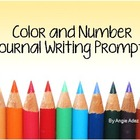 Kindergarten Color and Number Writing Prompts