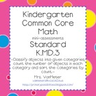 Kindergarten Common Core Assessments- K.MD.3