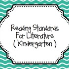 Kindergarten Common Core CCSS - English & Mathematics Stan