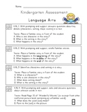 Kindergarten Common Core Combined Assessment Pack